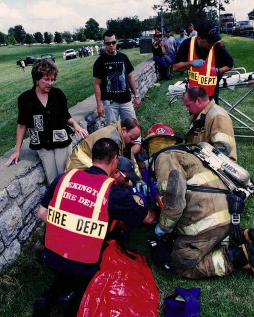 Emergency crew working on Diana