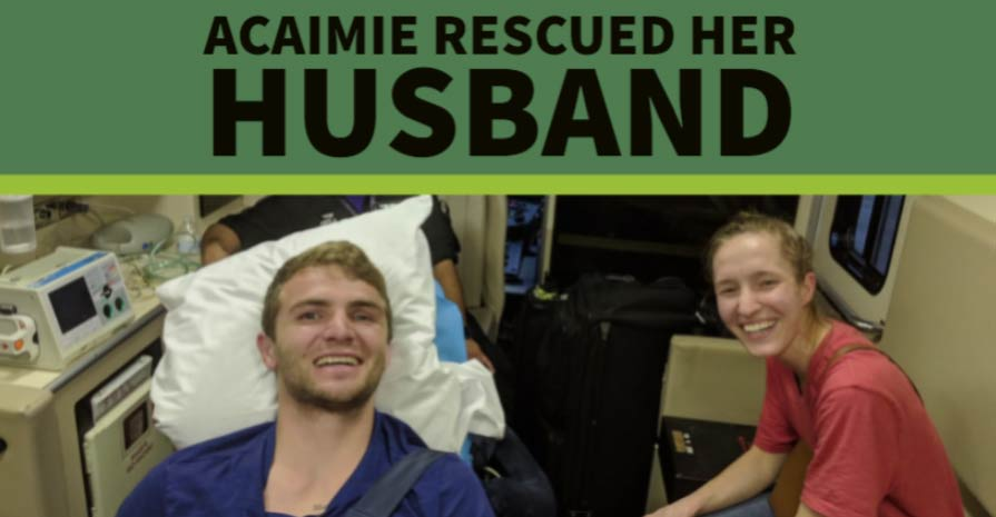 Acaimie rescued her husband