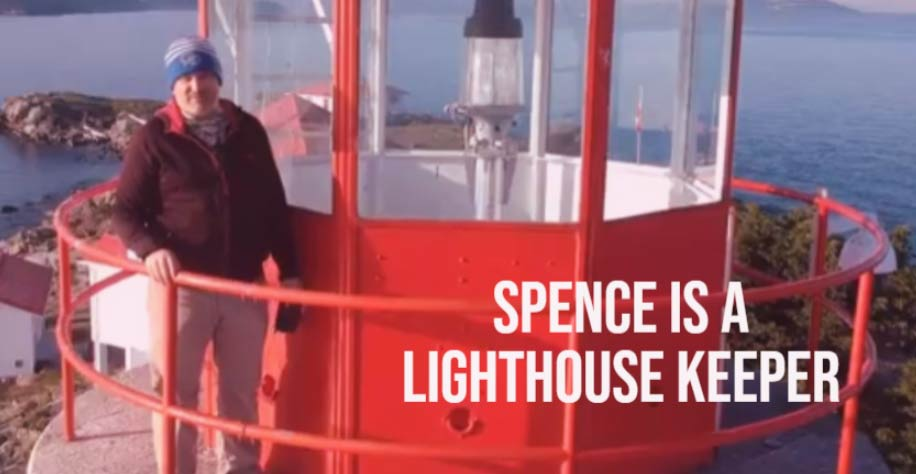 Spence is a lighthouse keeper