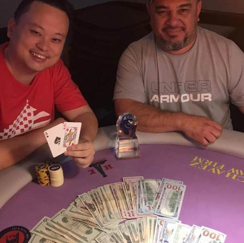 William Hung playing poker