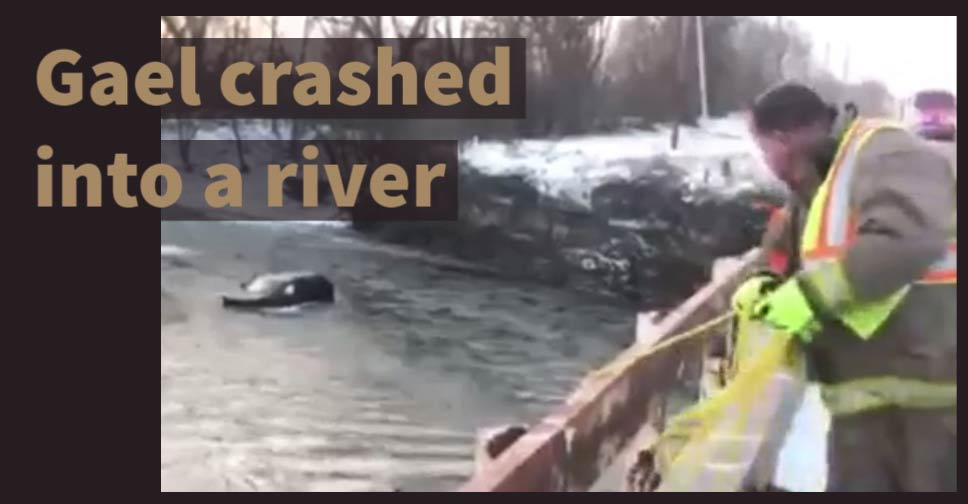 Gael crashed into a river