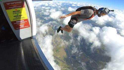 Eric skydiving
