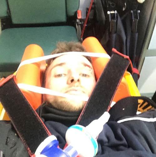 Ambulance selfie