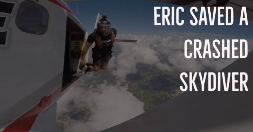 Eric saved a crashed skydiver