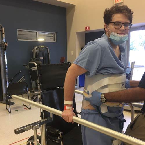 Steven in rehab