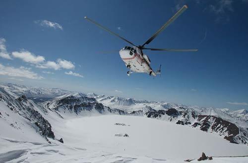Chopper in the Arctic
