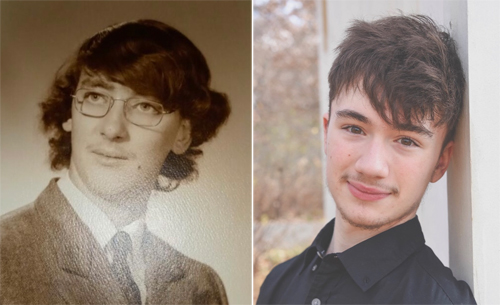 Tom and Christian at age 17