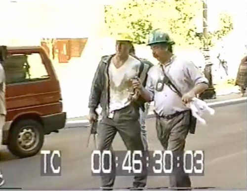 Tim Brown (left) with a colleague on 9/11
